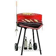 Outsunny Charcoal Barbecue Temperature 67x51x82cm