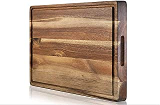 Pellholmen Collection Reversible Acacia Butcher board with Juice grooves- Eco-Friendly, Durable, Kitchen Counter Cutting Board