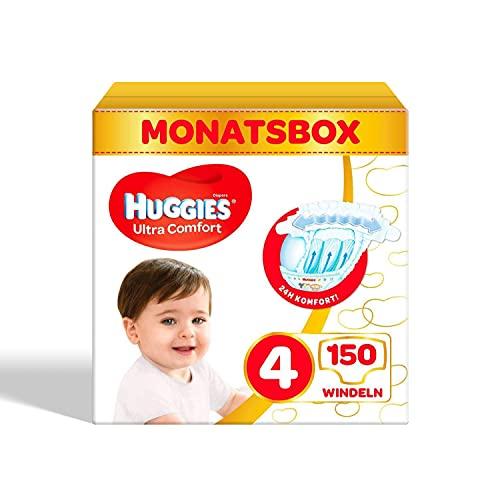 Huggies Ultra Comfort Babywindeln, Größe 4 (7–18 kg), 150 Stück