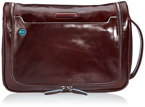 Piquadro Move 2 Beauty Case da Viaggio, Pelle, Mogano, 30 cm