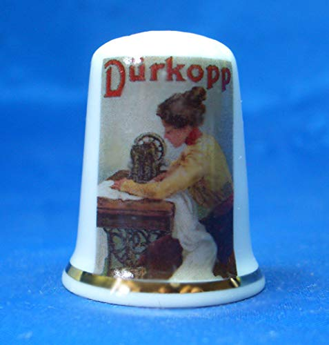Birchcroft Porselein China Thimble Durkopp naaimachine Poster Doos