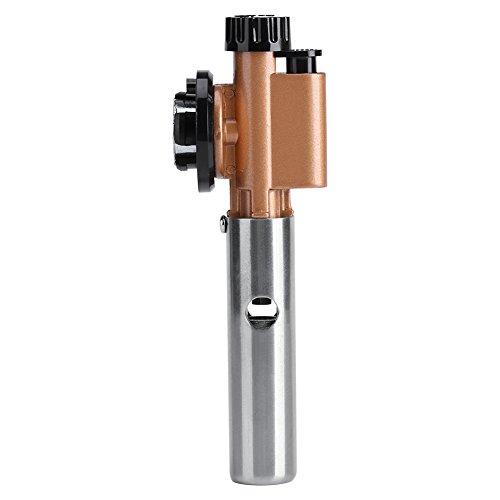 Zerodis Gasbrennerkopf, tragbar, mit einstellbarer Temperatur für Camping, Grillen, Backen, Picknick, Schweißen, Behandlung von Metalloberflächen