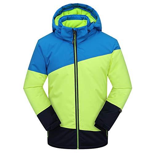 PHIBEE Jungen Wasserdicht Atmungsaktiv Snowboard Skijacke Spleißen 170-176