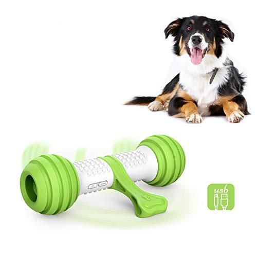 PETGEEK Automatic Interactive Dog Bone, Moving Dog Toy Bone for Indoor Boredom, Electronic Dog Chase Toys for Medium/Large Dog USB Rechargeable Safe Material PC & TPU