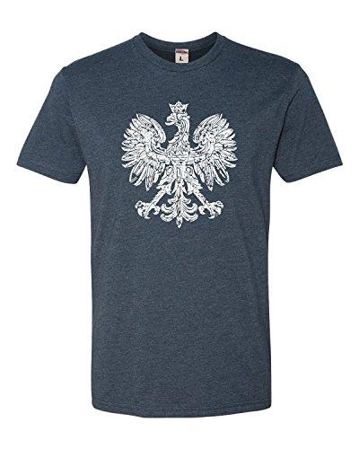 X-Large Navy Adult Polska Eagle Polish Pride Poland Deluxe T-Shirt