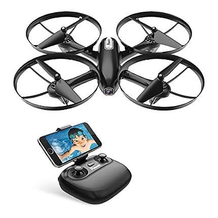Potensic Drone Cámara 720P HD FPV RC Quadcopter WiFi Profesional con Cámara Modo sin Cabeza Hold Altitude con Batería Extraíble