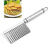 Utensili da cucina multiuso per patate ondulate Coltelli in acciaio inossidabile Utensili da taglio seghettati Coltelli da cucina con punta rugosa Affettatrici per uso domestico e da cucina