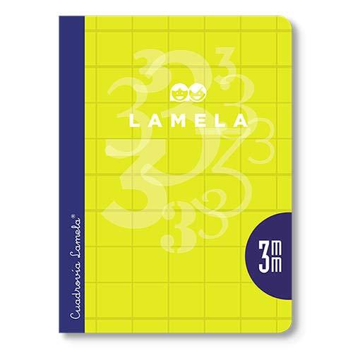 Cuaderno Libreta LAMELA, 4º 50H Cuadrovía 2,5 mm. Tapa Básica