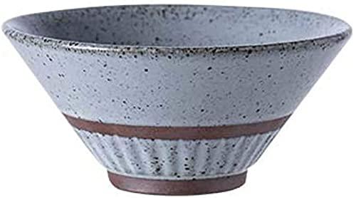 Cuencos y tazones Cuenco de arroz retro de arroz, cuenco de cerámica creativa, cuenco de porcelana creativa individual, cuenco de fideos de un solo tazón Cuencos para mezclar ( Color : Blue White )