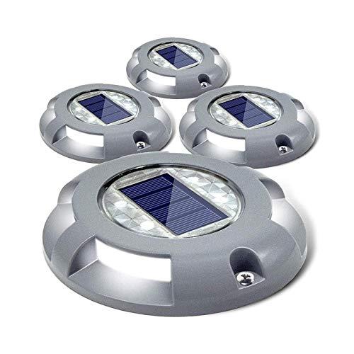 Luces Solares Para Entrada De Autos Led Para Exteriores Luz Enterrada Con Energía Solar Aluminio Impermeable Cubierta De Paso Escalera Pasarela De Jardín Lámpara Subterránea Azul