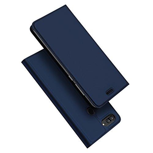 DUX DUCIS Huawei Honor 9 Lite Hülle, Skin Pro Series Ultra Slim Layered Dandy,Ständer,Magnetverschluss,TPU Bumper,Full Body Schutz für Huawei Honor 9 Lite (Blau)