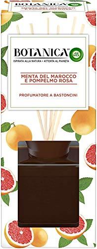 Airwick Botanica, Profumatore per Ambienti con Diffusore a Bastoncini, fragranza Menta del Marocco e Pompelmo Rosa, fragranza naturale - Confezione da 80 ml