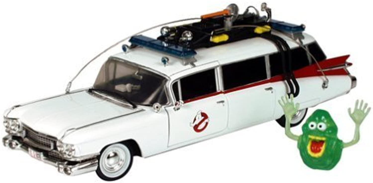 GHOSTBUSTERS ERTL JOYRIDE DIE CAST 1 21 ECTO 1 A - w  exclusive slimer by Ghostbusters