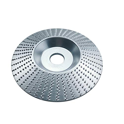 ErYao Carbide Wood Sanding Carving Disc for Angle Grinder/Grinding Wheel 100mm (Silver)