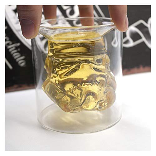 QJTZ Copa de Vidrio de Vidrio de Vidrio de Doble Pared Creativo Taza de Vino sin Plomo Copa de Vino Casa de Cerveza Leche de Vidrio Taza de café Regalo 0412