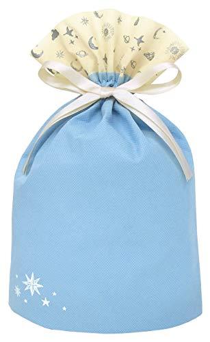 インディゴ ラッピング袋 プレゼントバッグM アストル ライトブルー PG105