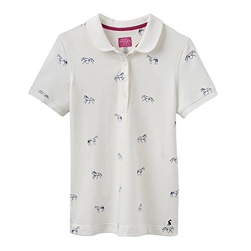Joules-Dreifaltigkeit-Polo-shirt 46 Creme Horse