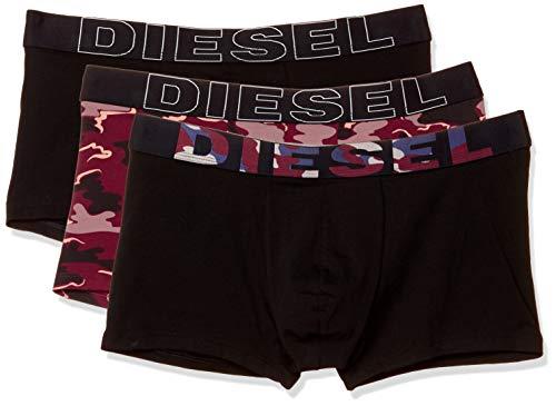 Diesel Calzoncillos Hombre 3 Pack - UMBX-Damienthreepack, Trunks, Camoufalge, Rojo/Negro