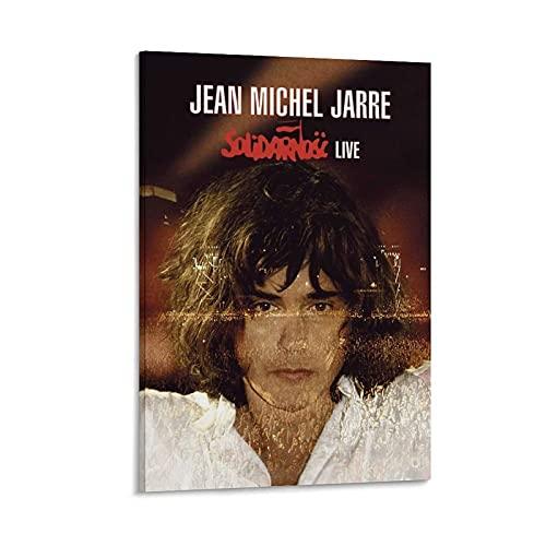 "WEGSD Cuadro decorativo para pared, diseño de Jean-Michel Jarre, 60 x 90 cm, con texto en inglés ""The Subject of Jean-Michel Jarre"""