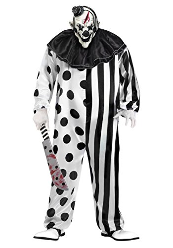 Killer Clown Plus Size Costume 3X White