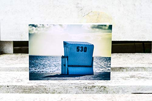 Strandkorb auf Sylt Foto Grußkarte - Klappkarte mit Umschlag - Format C6