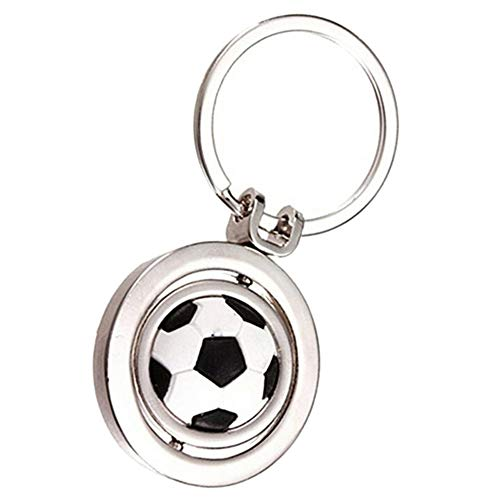 IKAAR Schlüsselanhänger Metall Schlüssel Anhänger mit Fußball Anhang für Frauen und Männer Geschenk