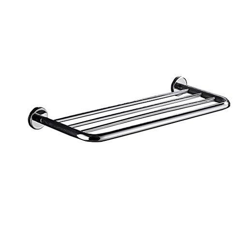 Haute qualité 304 étagère porte-serviettes en acier inoxydable pour tablette pour montage mural pour salle de bain ou cuisine (40cm) Porte-serviette