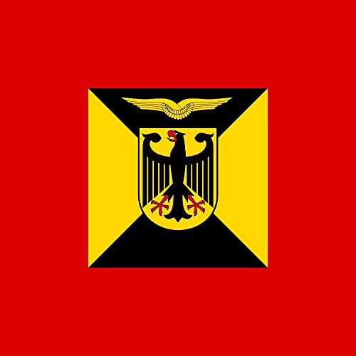 DIPLOMAT Flagge Amtschef Luftwaffenamt 1995-2004 Bundeswehr   Fahne 0.06m²   25x25cm für Flags Autofahnen