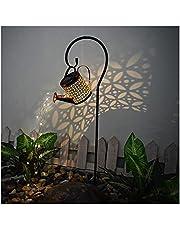 Binhe Led-lichtsnoer op zonne-energie, tuingieter verlichting, decoratie, sterrendouche, tuinverlichting, lichtketting, voor buiten, thuis, tuin, binnenplaats, pad, balkons