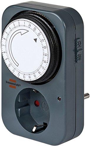 Brennenstuhl Mechanische Zeitschaltuhr MZ 20, 1506450 (2 Stück, Schwarz)