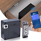 Hidden RFID Cabinet Lock, Electronic Cabinet Lock, NFC Supported, EEOO Invisible DIY Lock for Wooden Cabinet, Drawer, Wardrobe, Weapon Storage