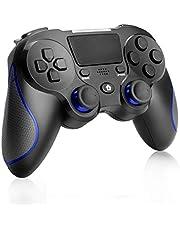 Game Controller voor PS4, CestMall Wireless PS4 Remote Controller Grip voor Playstation 4, Dual Vibration Shock USB Joystick Gamepad voor PS4 / PS4 Slim / PS4 Pro met USB-kabel, Antislipgreep
