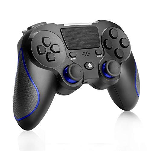 Wireless Controller für PS4, CestMall Bluetooth controller für PS4/PS4 Slim/PS4 Pro und PC (Windows 7 / 8 / 10), Gamepad mit Dual-Vibration 6-Achsen Rechargable Remote Controller mit Audio-Buchse
