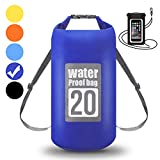 WIN.MAX Dry Bag, Waterproof Bag, Waterproof Floating Dry Sack 5L 10L 15L 20L 30L with Adjustable Shoulder Strap and Phone Dry Bag for Kayaking, Rafting, Swimming, Camping, Hiking, Beach Seven Colors -