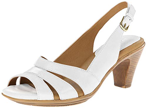 Softspots Women's Neima White Velvet Sheep Nappa Sandal 8 M (B)