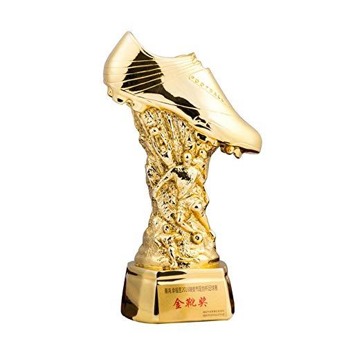 LBYLYH Home Decoratie standbeeld Figurines Home Decoratie Trofee Model Europese Cup Voetbal Schoenen Trofee Hars Sport Standbeeld Desktop Craft Gift