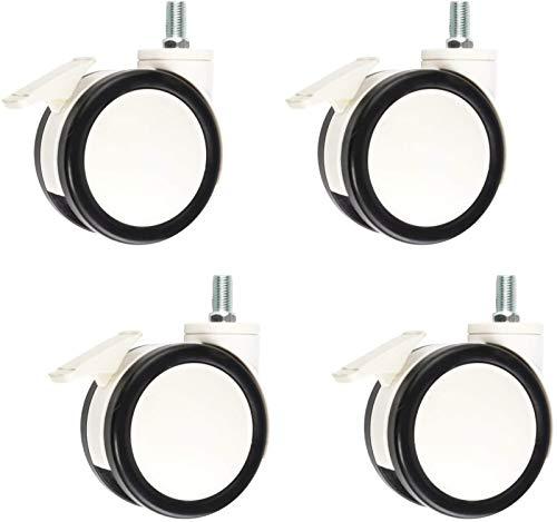Superior Muebles giratorios de alto rendimiento giratorio ruedas giratorias dobles ruedas de ruedas de ruedas de poliuretano Ruedas de reemplazo para dispositivos médicos Equipo de belleza Conjunto de