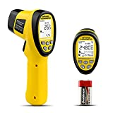 HOLDPEAK HP-985B IR Thermometer -58℉~2480℉ (-50℃~1360℃) Digital Infrared Thermometer Dual Laser Non-Contact Temperature Gun for Forge Melting Furnace Kilns Industry