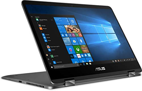 """ASUS ZenBook UX461FN Flip 14"""" FHD WideView Touchscreen 2-in-1 Laptop, Intel i7-8565U up to 4.6GHz, 16GB Memory, 512GB SSD, NVIDIA GeForce MX150, USB 3.1-C, Webcam, Bluetooth 5.0, HDMI, Windows 10"""