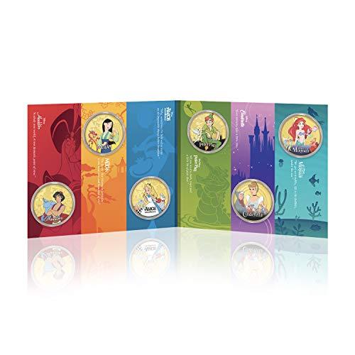 IMPACTO COLECCIONABLES Disney Classic Komplettkollektion 03 - 24 Karat vergoldet mit Farbe 44mm - Plus KOSTENLOSES Sammlerpaket
