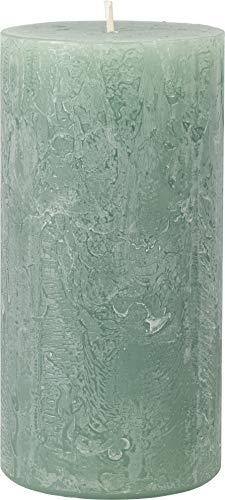 safe candle Rustic Kerze selbstverlöschend, 4 Stück, Höhe 14 cm/Ø 7 cm, 69 Std. Brenndauer (Smaragd)