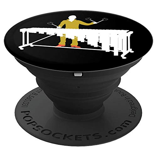 Marimba Jazz Percussion Marching Band Vibraphone gift PopSockets Grip and Stand for Phones and Tablets
