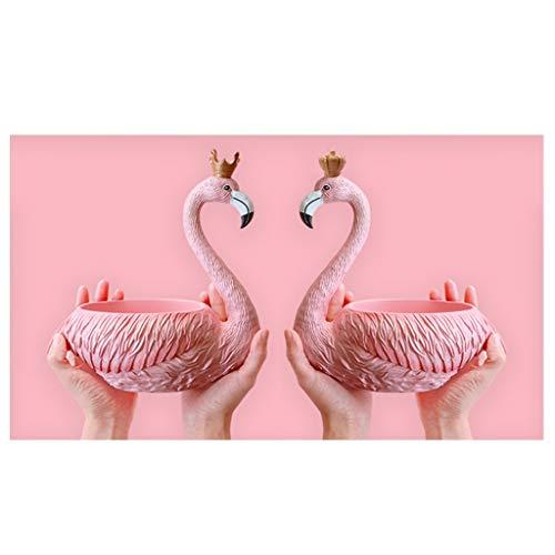 Oficina Casa Vaciabolsillos Recibidor, Creative Bandeja Decorativa Centro de Mesa Café Bar Decoración Llavero Joyería Organizador de Llaves con Estilo Flamingo, Materia Resina ( Color : King+Queen )