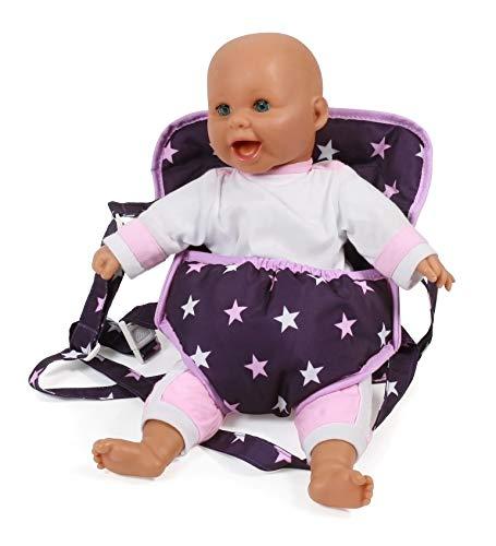 Bayer Chic 2000 782 71 Puppen-Tragegurt, Puppentrage, Stars lila