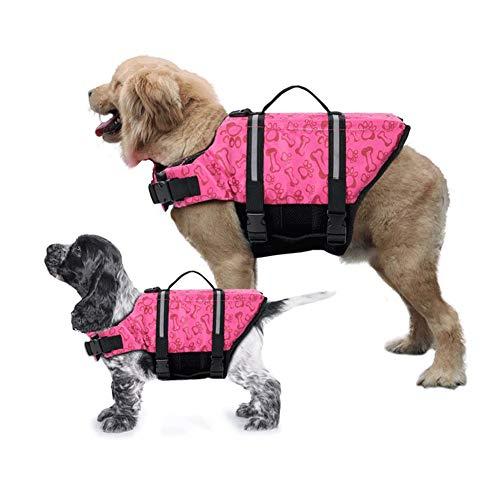 Gtpeak Chaleco Salvavidas para Perro con Dispositivos de flotación Seguros, Traje de baño Reflectante Ajustable, Mango de fácil Agarre, Salvavidas para tamaño Mediano Grande (XS S M L XL)
