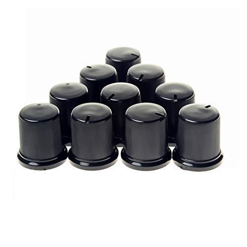 condensadores electrolíticos Potenciómetro Pandilla de plástico Control de volumen Encoder Rotario Perillas Interruptor de volumen Perilla Potenciómetro PERRILLAS DE 6MM (Paquete de 10) suministros de