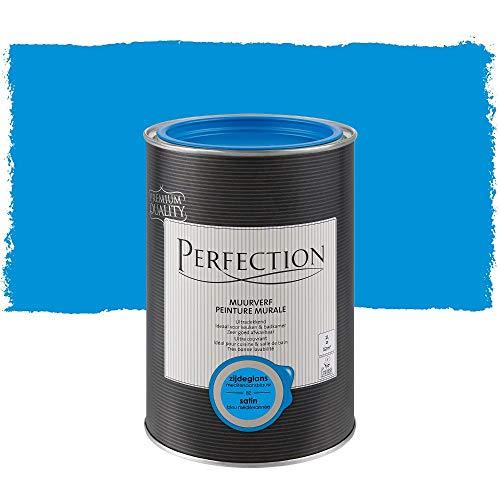 Perfection Einanstrich - Innenwandfarbe - Satin - 82 Mediterranes Blau - 1L - 12m²
