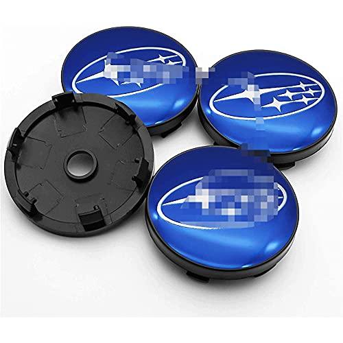 Tapas de cubo de centro de rueda de 4 piezas para borde cromado Subaru- Forester de la etiqueta del logotipo de la etiqueta, aleación