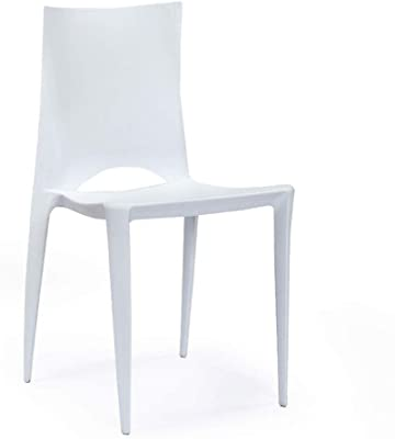 Amazon.com: Parada One diseño Zebra moderno apilable silla ...