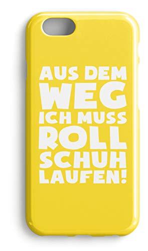 shirt-o-magic Handyhülle Rollerskates: Muss Rollschuh laufen! - Case -iPhone 6s-Gelb